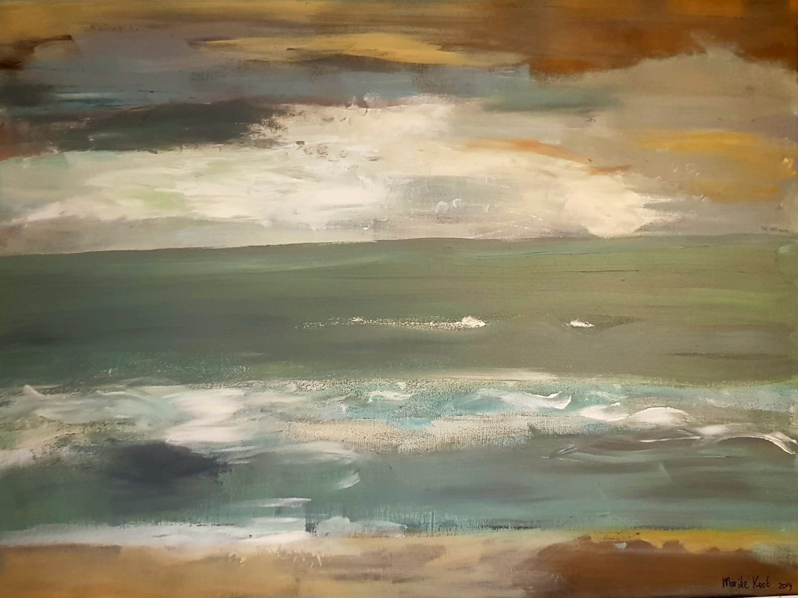 The North sea - 80 by 60 cm