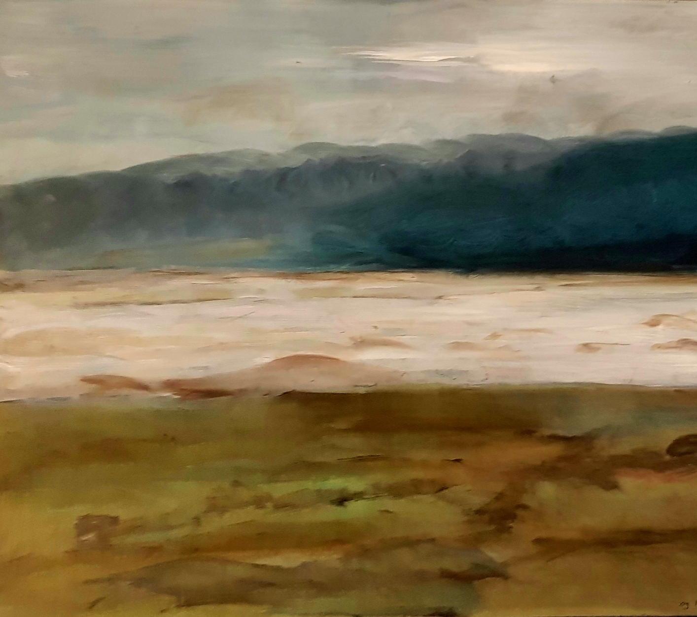 Sky, moutains, sea and land - 100 by 80 cm