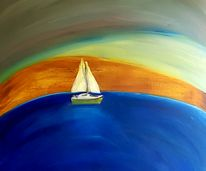 Sailing the seven seas - 100 by 100 cm