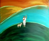 Me and my dog - 100 by 100 cm