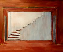 Stairs to the roof terrace - 60 by 80 cm