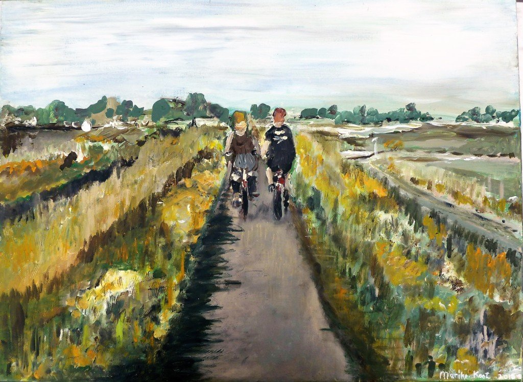 Cyclistes Hollandais - 60 by 80 cm